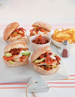 Chicken Burgers & Chipotle Ketchup
