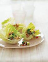 Lettuce Wrappers with Crab