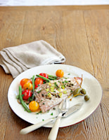 Red Mullet with Baked Tomatoes