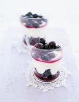 Tipsy Blueberry & Mascarpone Pots