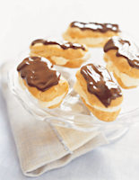 Chocolate Éclairs with Cream Liqueur