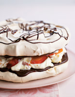 Peach & Chocolate Vacherin