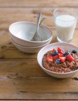Chocolate Porridge with Berries