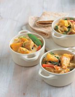 Curried Chicken, Mango and Coconut Stir-Fry