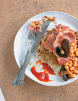 Rosti with Bacon and Mushrooms