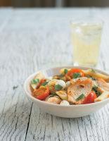 Warm Mozzarella, Chicken, Tomato and Basil Pasta