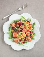 Watermelon, Pomegranate and Haloumi Salad