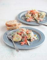 Hot Smoked Trout and Potato Salad