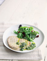 Swordfish Steaks with Basil and Pinenut Oil