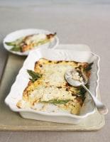 Asparagus and Fontina Cheese Crespelles