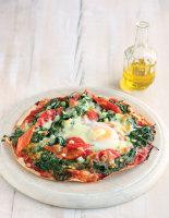 Quick Spinach and Mozzarella Pizzas