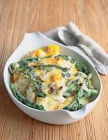 Butternut, Broccoli and Mushroom au Gratin