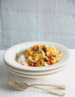 Butter Bean and Mushroom Tagine