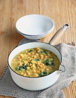 Lentil, Mustard and Chickpea Soup