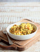 Carrot and Cashew Rice