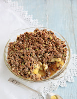 Oat-Topped Pear and Ginger Pudding
