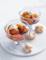Apricots with Lemon Cream and Soft Amaretti