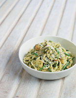 Ligurian Potato and Green Bean Pasta with Pesto