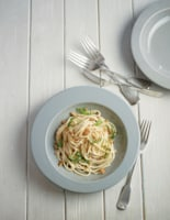 Creamy Anchovy, Lemon and Rocket Spaghetti