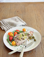 Red Mullet with Capers and a Warm Tomato Salad