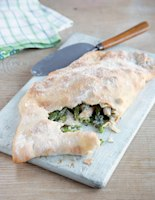 Smoked Chicken, Asparagus and Blue Cheese Calzone
