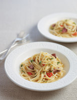 Linguine with Spicy Lamb Sauce