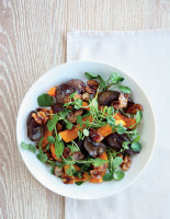 Warm Chicken Liver, Butternut Squash and Bacon Salad