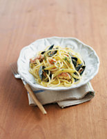 Spaghetti with Monkfish, Mussels and Fennel