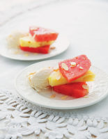 Watermelon and Pineapple with Sambuca