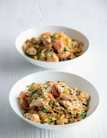 Gingered Chicken, Seed and Vegetable Rice