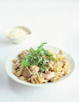Chicken and Fennel Risotto with Vermouth