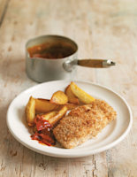 Healthy Fish Supper with Homemade Tomato Ketchup