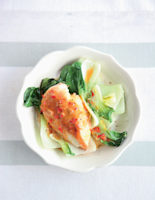 Saucy Lemon Chicken with Greens