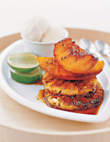 Grilled Fruits with Palm Sugar