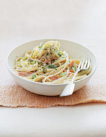 Smoked Trout Pasta with Creamy Dill Sauce