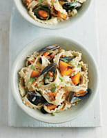 Pasta with Seafood and Roasted Butternut Squash