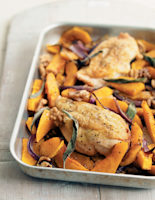 Roasted Chicken with Butternut Squash