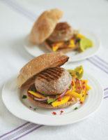 Tuna Burgers with Mango Salsa