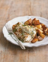 Pan-Fried Cod and Chips with Lemon Mayo and Dill