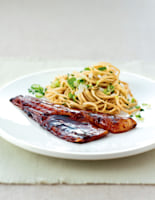 Grilled Teriyaki Bass with Noodles