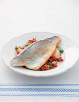 Sea Bass Fillets with Lentil Salad