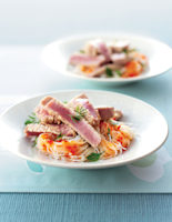 Sesame Tuna with Spicy Noodles