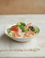 Spiced Prawn, Coconut and Banh Pho Pot