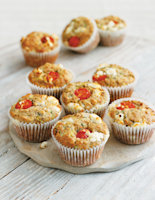 Seeded Goats' Cheese and Chive Muffins