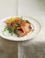 Rosti with Smoked Salmon and Rocket