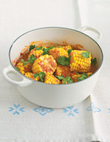 Sweetcorn, Coconut and Tomato Curry