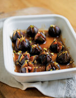 Baked Figs with Honey and Pistachios