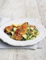 Crispy Aubergine Slices with Couscous