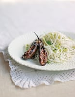Miso Aubergine with Cucumber Rice Noodles