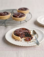 Warm Chocolate Cherry Tarts